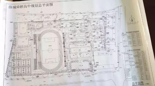 (舜耕中学高中规划总平面图)